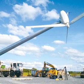 風力発電機を建てる